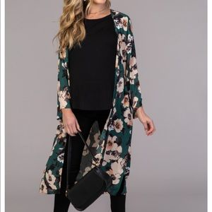 Floral cardigan size one size fits all